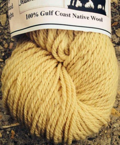 Finished yarn from Gulf Coast Native sheep I sheared.